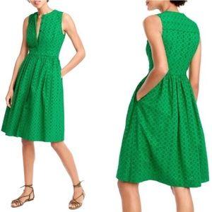 NWT Green Eyelet Summer Dress